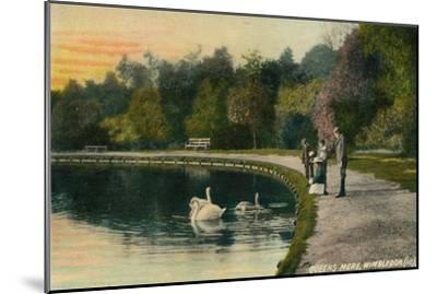 'Queens Mere, Wimbledon', c1910-Unknown-Mounted Giclee Print