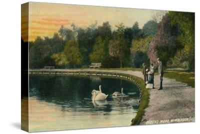 'Queens Mere, Wimbledon', c1910-Unknown-Stretched Canvas Print
