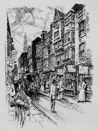 Holywell Street, Westminster, London, c1890 (1911)-Unknown-Framed Giclee Print