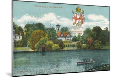'Popes Villa, Twickenham', c1910-Unknown-Mounted Giclee Print