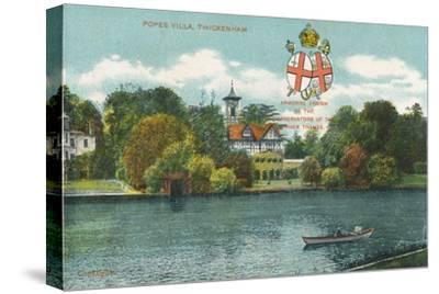 'Popes Villa, Twickenham', c1910-Unknown-Stretched Canvas Print