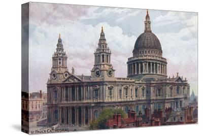 'St. Paul's Cathedral', c1910-Unknown-Stretched Canvas Print