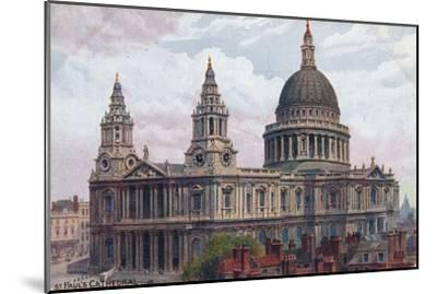 'St. Paul's Cathedral', c1910-Unknown-Mounted Giclee Print