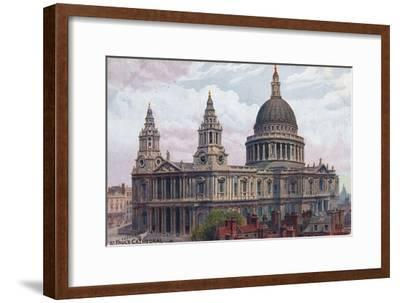 'St. Paul's Cathedral', c1910-Unknown-Framed Giclee Print