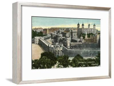 'The Tower of London & Mint, London', c1910-Unknown-Framed Giclee Print
