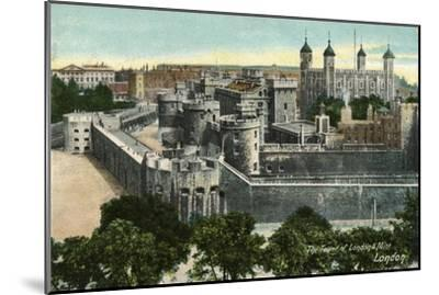 'The Tower of London & Mint, London', c1910-Unknown-Mounted Giclee Print