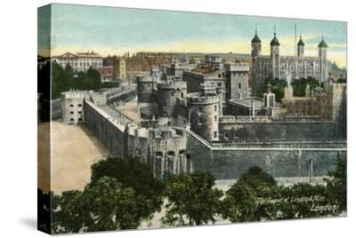 'The Tower of London & Mint, London', c1910-Unknown-Stretched Canvas Print