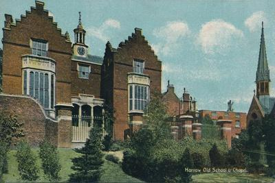 'Harrow Old School & Chapel', c1910-Unknown-Stretched Canvas Print