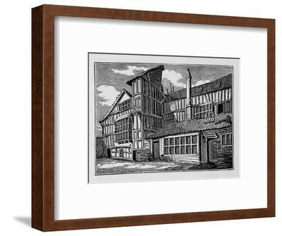 Whittington's House in Swithin's Passage, Moor Lane, City of London, 1823 (1906)-Unknown-Framed Giclee Print