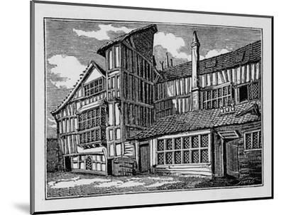 Whittington's House in Swithin's Passage, Moor Lane, City of London, 1823 (1906)-Unknown-Mounted Giclee Print