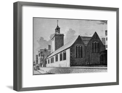 All Hallows Church, London Wall, City of London, c1901 (1906)-Unknown-Framed Giclee Print