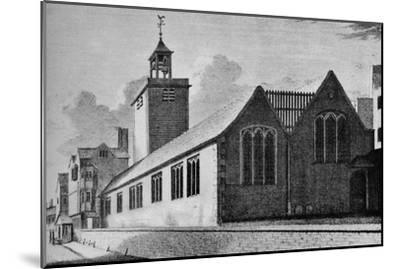 All Hallows Church, London Wall, City of London, c1901 (1906)-Unknown-Mounted Giclee Print
