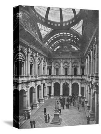 Interior of the Royal Exchange, City of London, c1910 (1911)-Unknown-Stretched Canvas Print