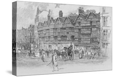 Staple Inn, Holborn Bars, London, c1910 (1911)-Unknown-Stretched Canvas Print