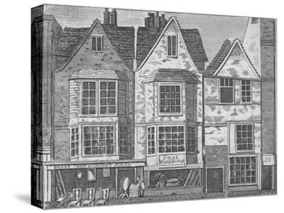 Old houses in St John Street, Clerkenwell, London, c1811 (1911)-Unknown-Stretched Canvas Print