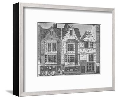 Old houses in St John Street, Clerkenwell, London, c1811 (1911)-Unknown-Framed Giclee Print