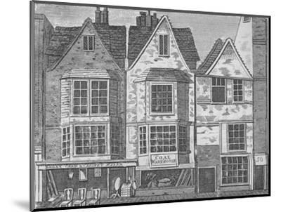 Old houses in St John Street, Clerkenwell, London, c1811 (1911)-Unknown-Mounted Giclee Print