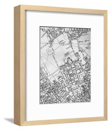 A plan of Holborn, St Giles, and St Pancras, London, in 1800 (1911)-Unknown-Framed Giclee Print