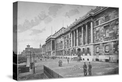 Custom House, City of London, 1911-Unknown-Stretched Canvas Print