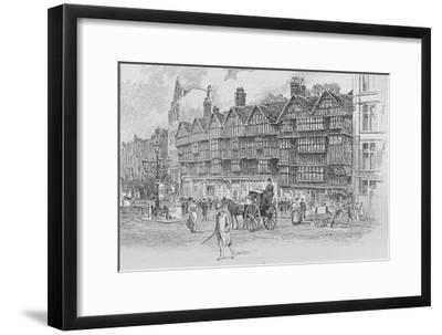 Staple Inn, Holborn Bars, London, c1910 (1911)-Unknown-Framed Giclee Print