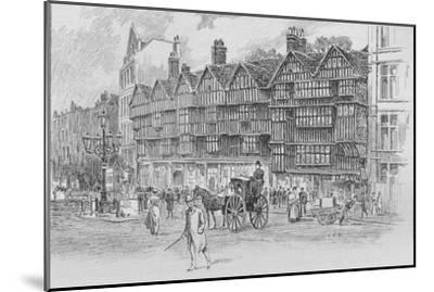 Staple Inn, Holborn Bars, London, c1910 (1911)-Unknown-Mounted Giclee Print