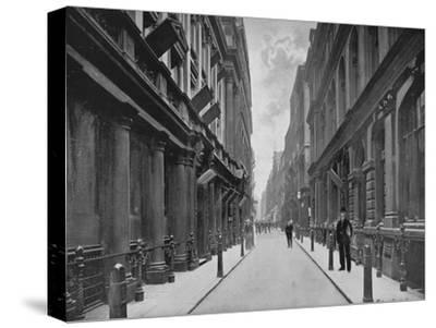 Paternoster Row, City of London, 1911-Unknown-Stretched Canvas Print
