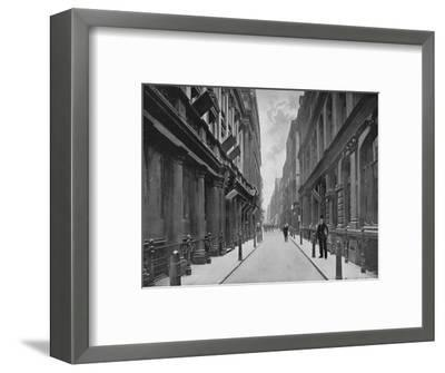 Paternoster Row, City of London, 1911-Unknown-Framed Giclee Print