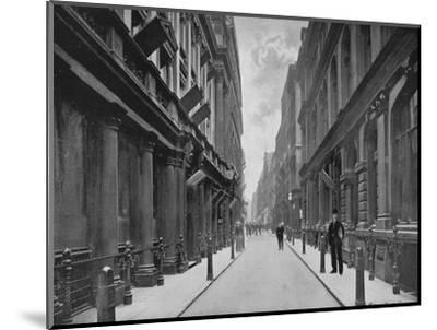 Paternoster Row, City of London, 1911-Unknown-Mounted Giclee Print