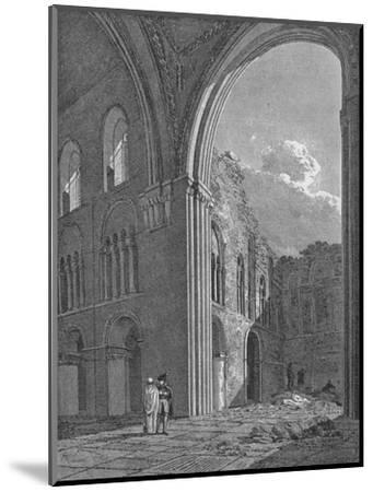 Church of St Bartholomew the Great in West Smithfield, City of London, 1822-Unknown-Mounted Giclee Print