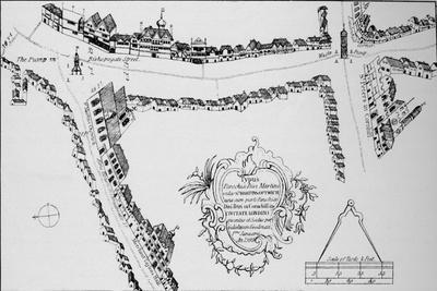 Map of Bishopsgate, City of London, c1599 (1904)-Unknown-Framed Giclee Print