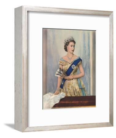 'Her Majesty Queen Elizabeth II', c1953-Unknown-Framed Giclee Print