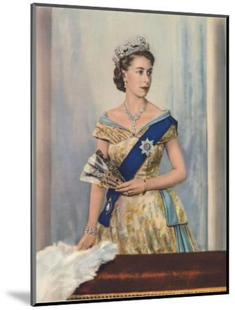 'Her Majesty Queen Elizabeth II', c1953-Unknown-Mounted Giclee Print