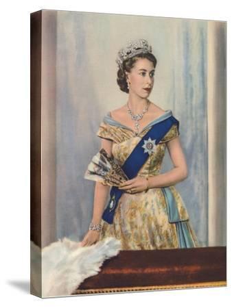 'Her Majesty Queen Elizabeth II', c1953-Unknown-Stretched Canvas Print
