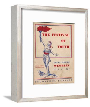 The front cover of the programme for The Festival of Youth, 1937-Unknown-Framed Giclee Print