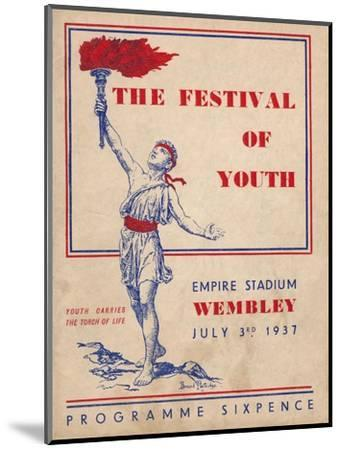 The front cover of the programme for The Festival of Youth, 1937-Unknown-Mounted Giclee Print