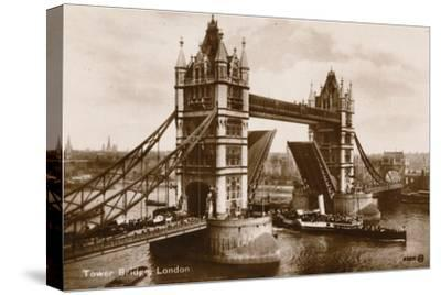 'Tower Bridge, London', c1910-Unknown-Stretched Canvas Print