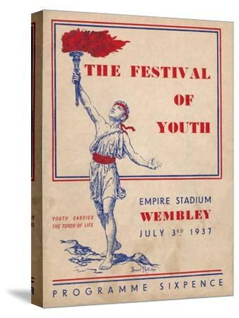 The front cover of the programme for The Festival of Youth, 1937-Unknown-Stretched Canvas Print