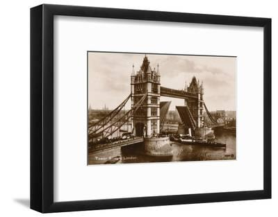 'Tower Bridge, London', c1910-Unknown-Framed Photographic Print