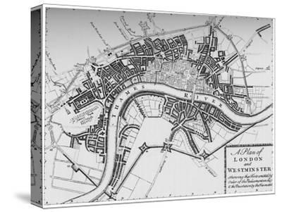 Plan of London and Westminster, 1749 (1903)-Unknown-Stretched Canvas Print