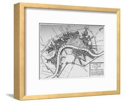 Plan of London and Westminster, 1749 (1903)-Unknown-Framed Giclee Print