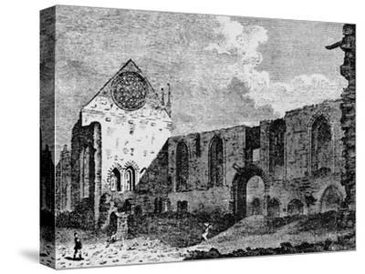 North-west view of the ruins of Winchester Palace, Southwark, London, c1900-Unknown-Stretched Canvas Print