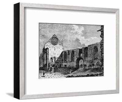 North-west view of the ruins of Winchester Palace, Southwark, London, c1900-Unknown-Framed Giclee Print