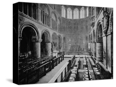 Interior of the Church of St Bartholomew the Great, West Smithfield, City of London, 1906-Unknown-Stretched Canvas Print