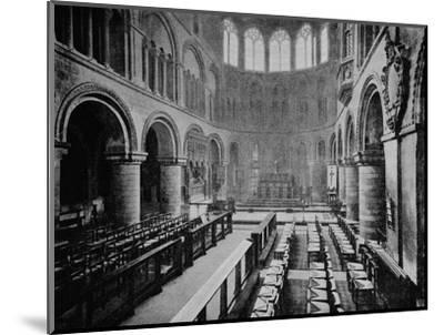 Interior of the Church of St Bartholomew the Great, West Smithfield, City of London, 1906-Unknown-Mounted Photographic Print