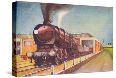 'Latest Austerity Freight Engine, S.R., at Southampton Docks', 1940-Unknown-Stretched Canvas Print