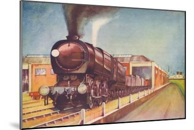 'Latest Austerity Freight Engine, S.R., at Southampton Docks', 1940-Unknown-Mounted Giclee Print