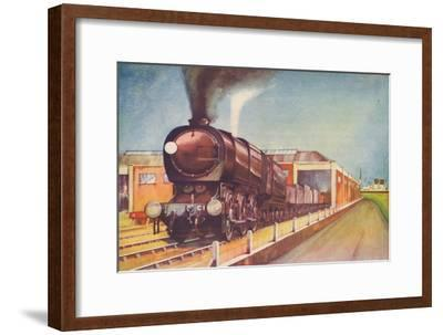 'Latest Austerity Freight Engine, S.R., at Southampton Docks', 1940-Unknown-Framed Giclee Print