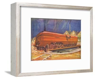 'Duchess of Gloucester, L.M.S., on the Turntable, Camden Town', 1940-Unknown-Framed Giclee Print