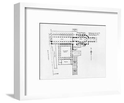 Plan of the Priory Church of St Bartholomew-the-Great, London, 1906-Unknown-Framed Giclee Print