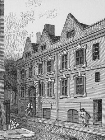 Principal entrance to Leathersellers' Hall, City of London, 1801 (1911)-Unknown-Framed Giclee Print